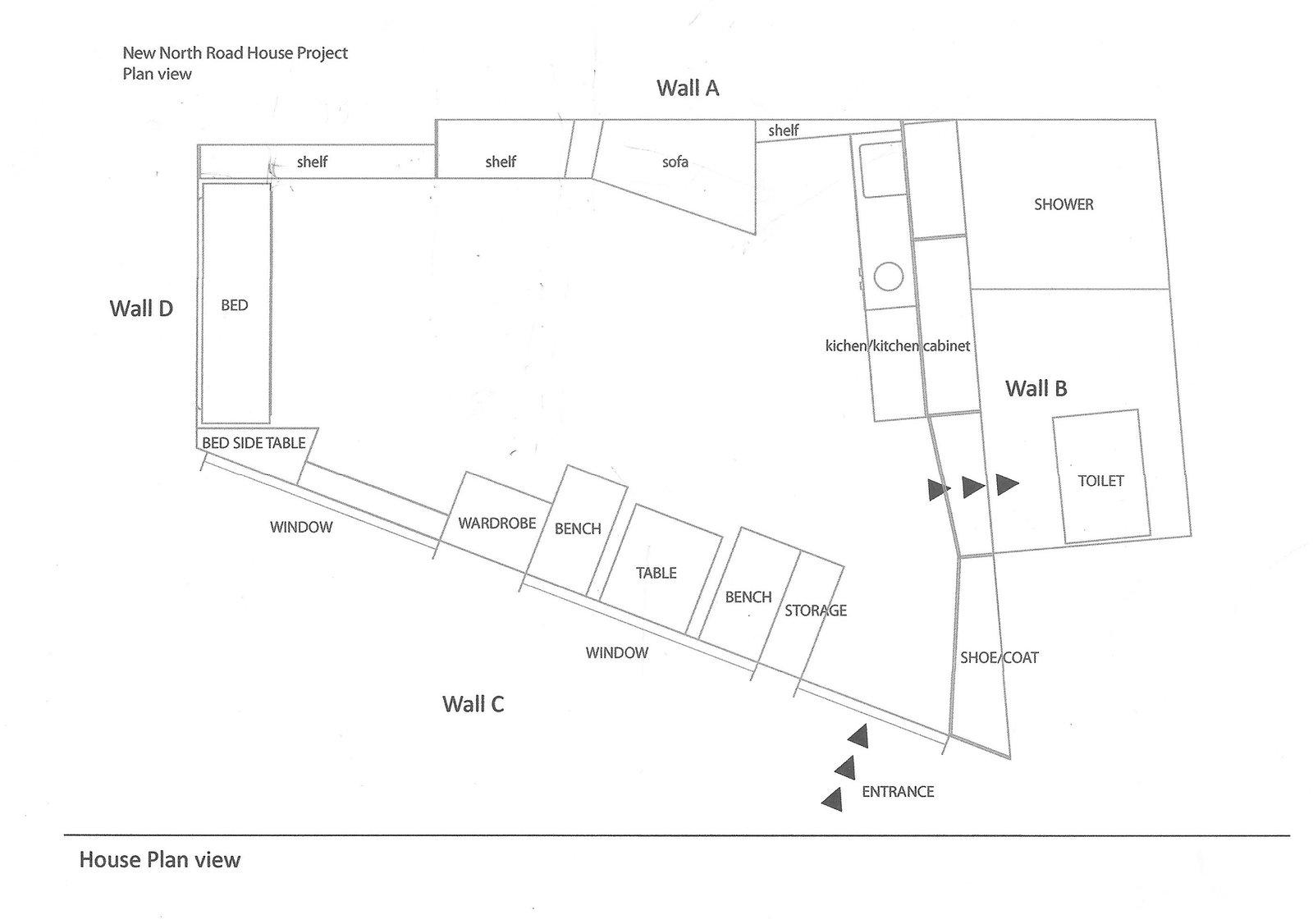 Floor plan drawing.