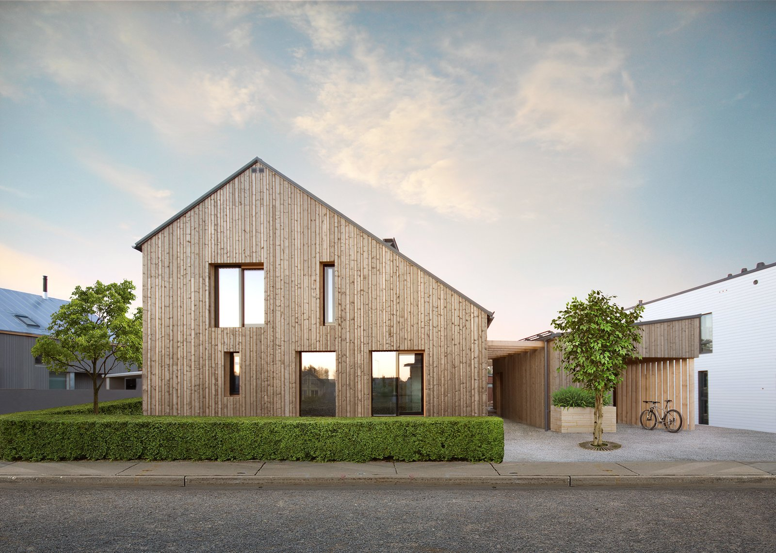 Architects Jaakko and Elizaveta Parkkonen designed and built Savukvartsi as their own city home, which they share with their parents and children.
