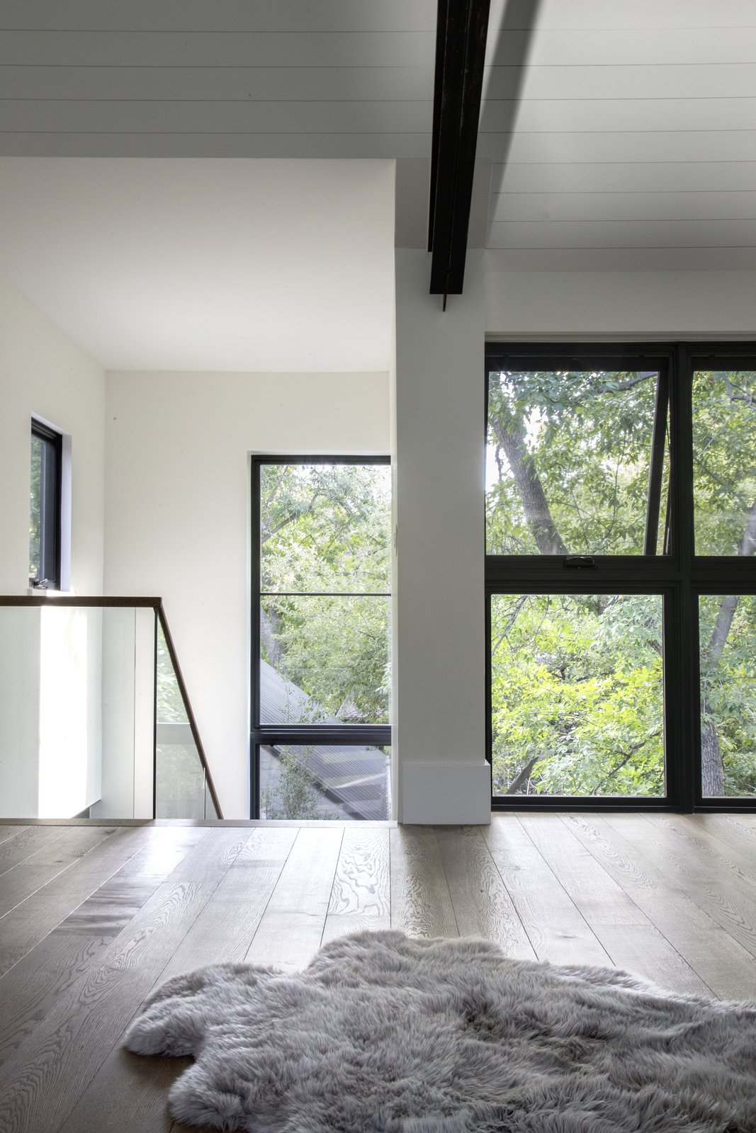 Large glass windows bring in ample amounts of natural light.