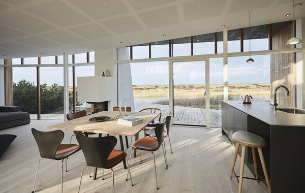 Typical of modern Scandinavian homes, the interiors are bright and airy.