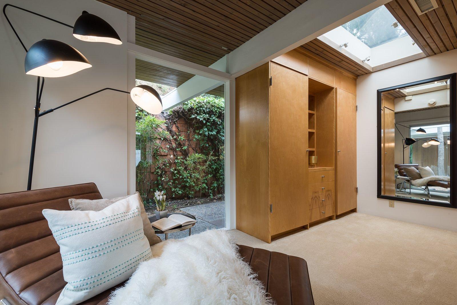 Skylights enhance the indoor-outdoor feel.