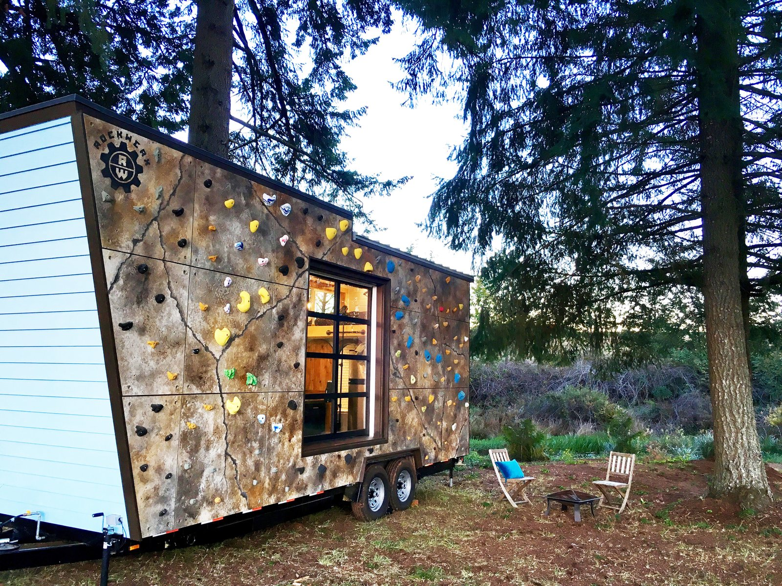 Tiny Adventure Home lets its owners park and climb.