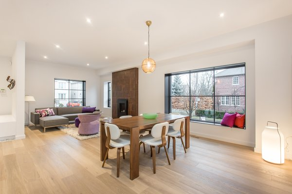 Living and dining areas.  Photo 4 of Manor Road house modern home