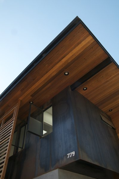 Corten, cedar and stucco all installed with rain-screen assemblies. Photo 2 of Carlo and Tammy's place modern home