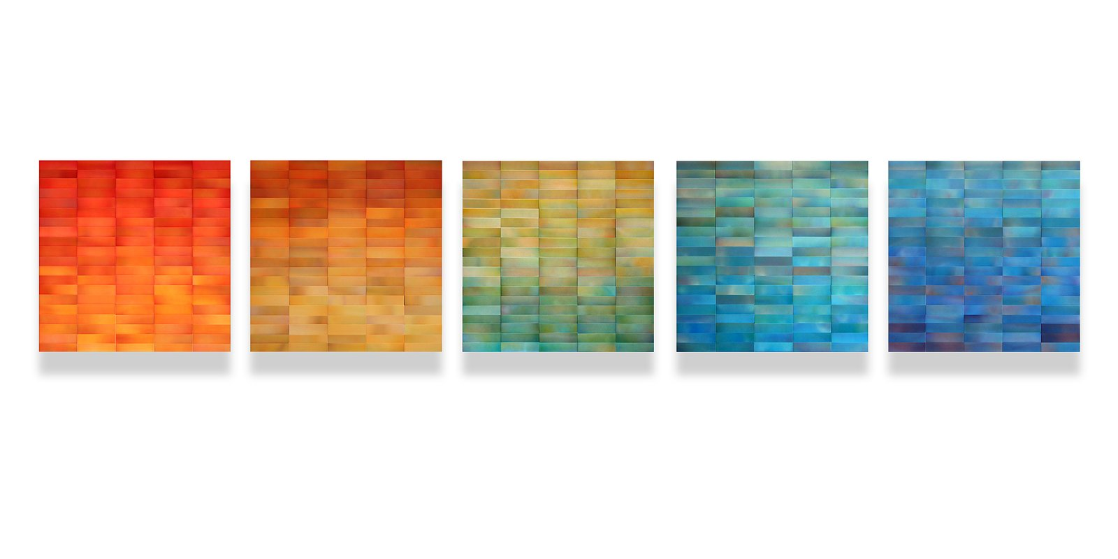 """""""Joy"""", 24""""h x 120""""w, painted aluminum on wood panel, Commission for Residential  Cascade Series by Moran Brown Art"""