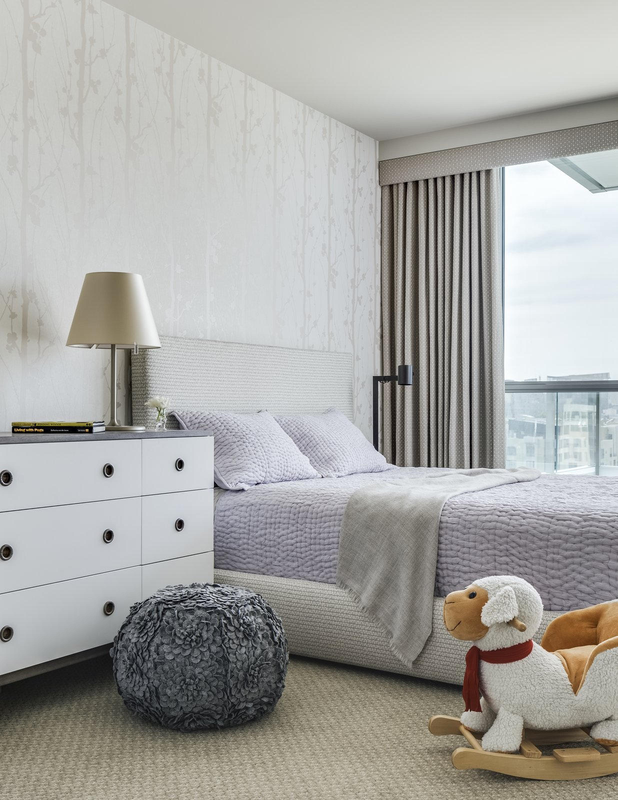 Sophisticated Play Tagged: Kids, Bedroom, Night Stands, Bed, Carpet, Dresser, Pre-Teen, Girl, and Rockers.  Best Kids Rockers Carpet Photos from Arden Mission Bay Contemporary Condo