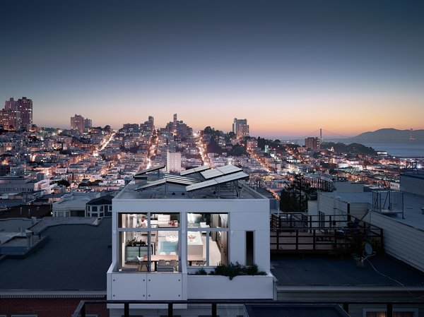 Modern home with outdoor, small patio, porch, deck, and rooftop. Photo 2 of Telegraph Hill Townhouse