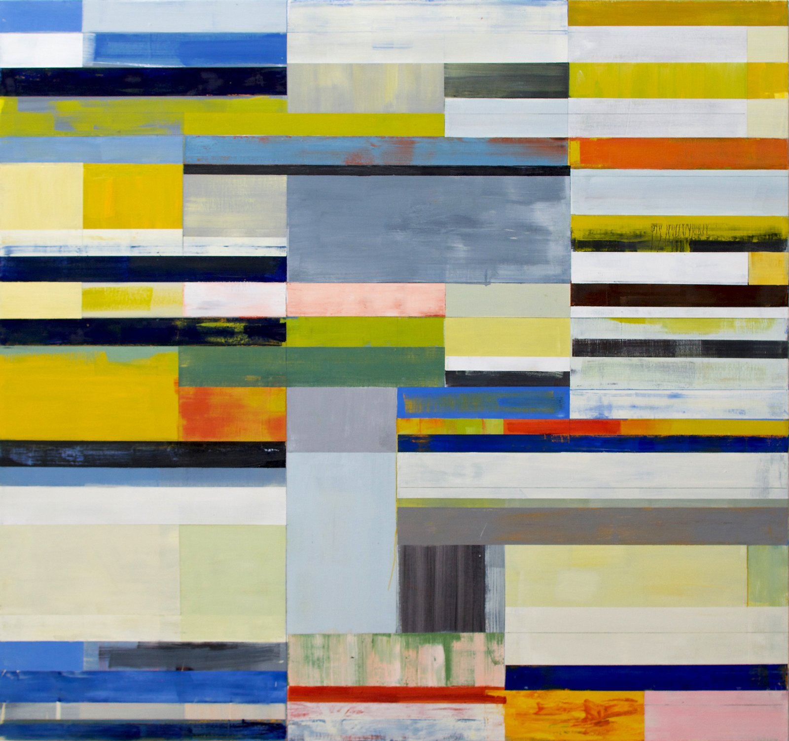 Blue Sift 2016 56x60 inches oil on canvas  current paintings by Lloyd Martin