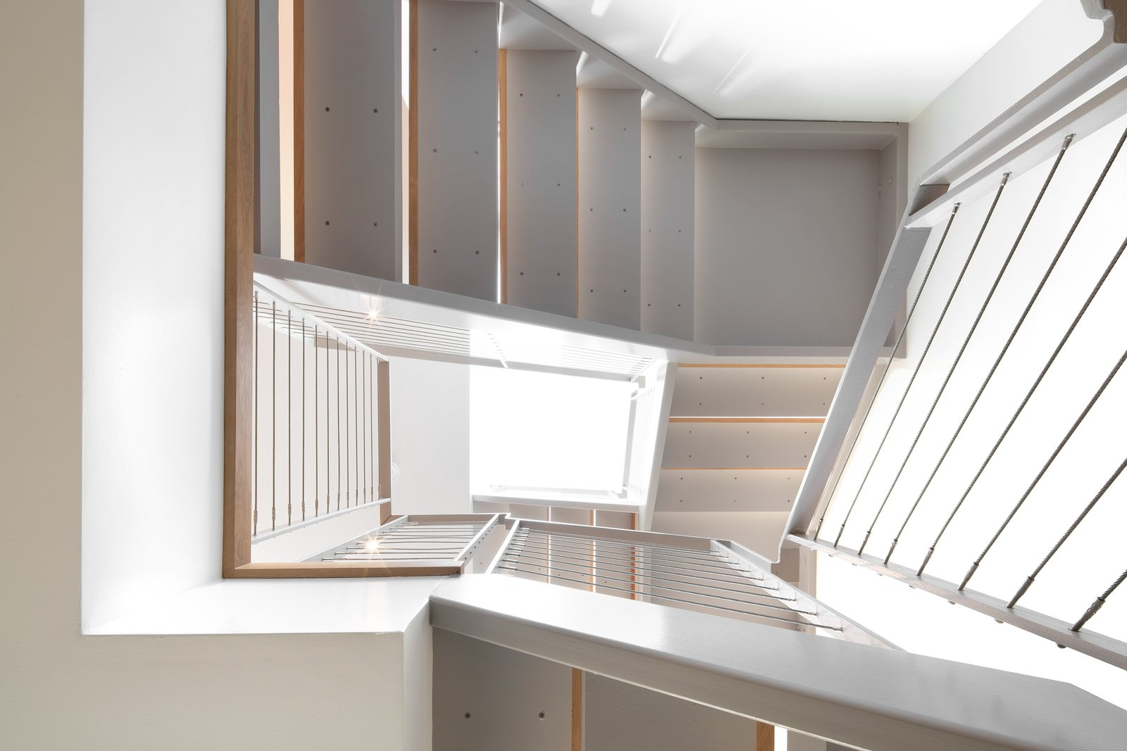 Main Stair Tagged: Staircase and Metal Railing.  27th Street - Noe Valley by patrick perez/designpad architecture