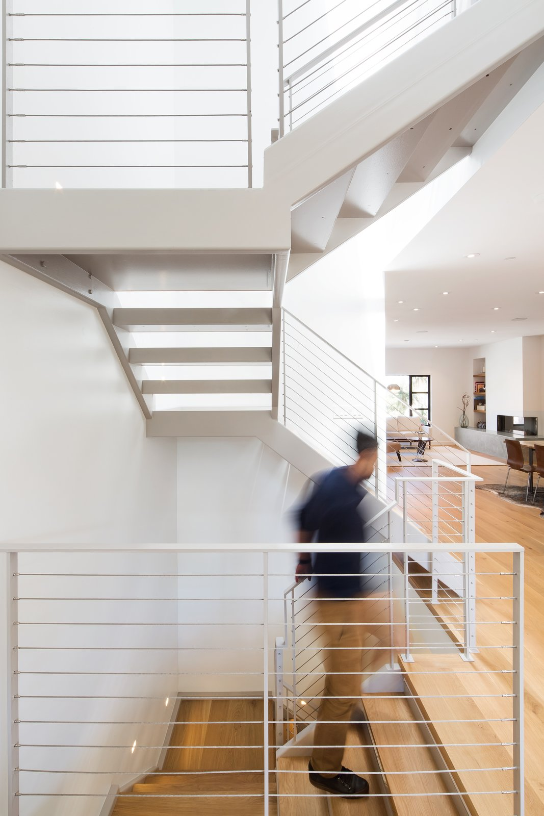 Main stair  27th Street - Noe Valley by patrick perez/designpad architecture