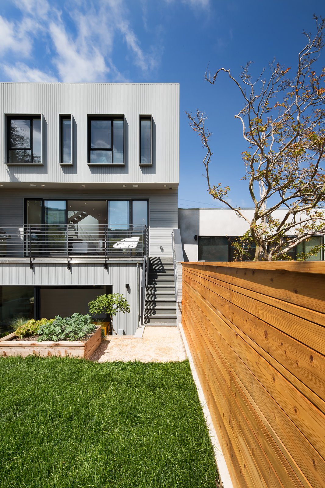 Rear facade 27th Street - Noe Valley by patrick perez/designpad architecture