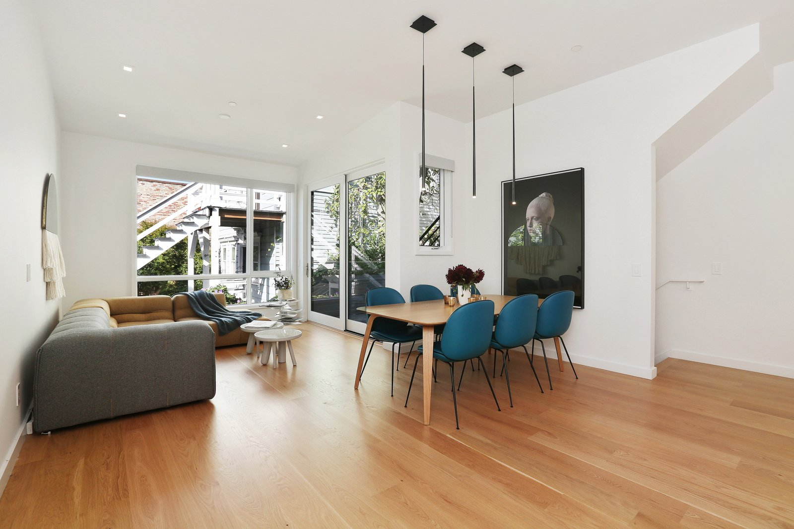 dining room/family room  Lower Pacific Heights by patrick perez/designpad architecture