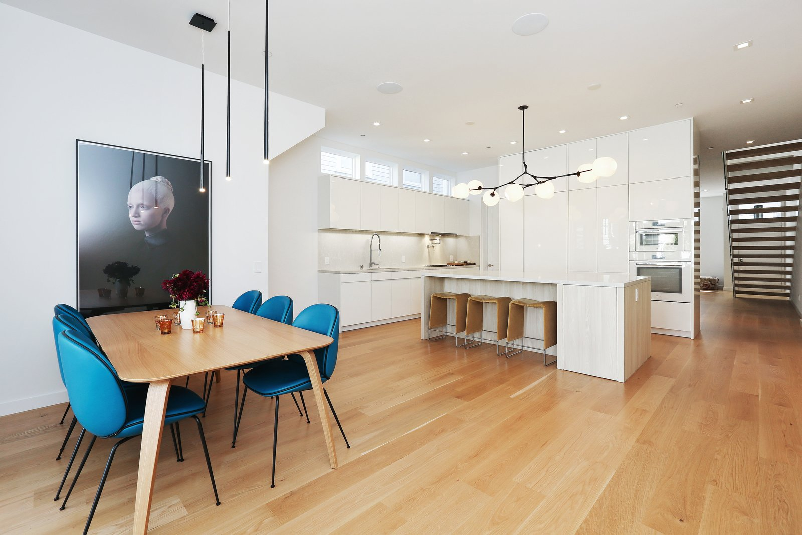 dining room/kitchen  Lower Pacific Heights by patrick perez/designpad architecture