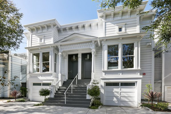 Front facade Photo  of Lower Pacific Heights modern home