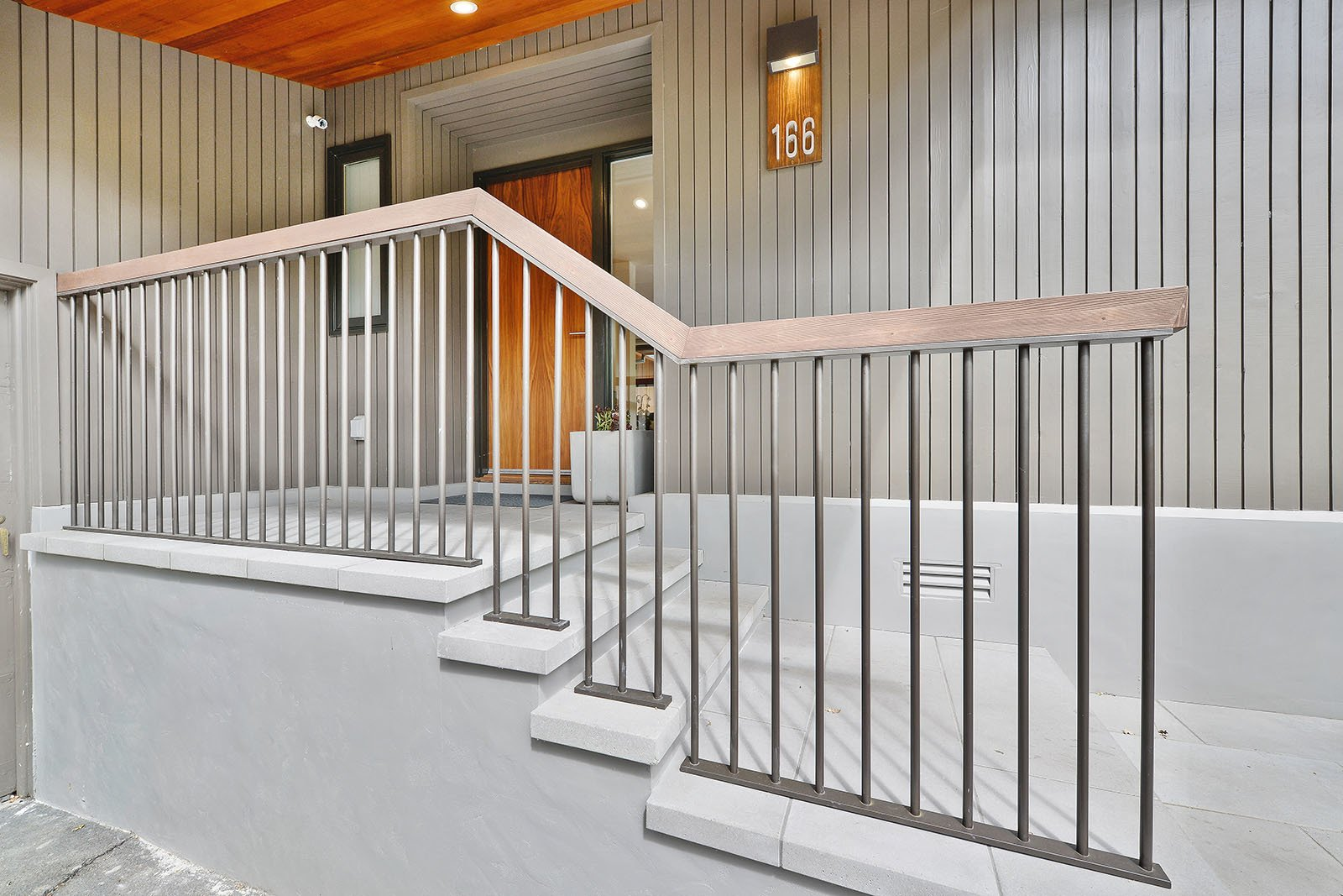 Front steps Tagged: Outdoor, Small Patio, Porch, Deck, Tile Patio, Porch, Deck, Front Yard, and Pavers Patio, Porch, Deck.  Portola Valley by patrick perez/designpad architecture
