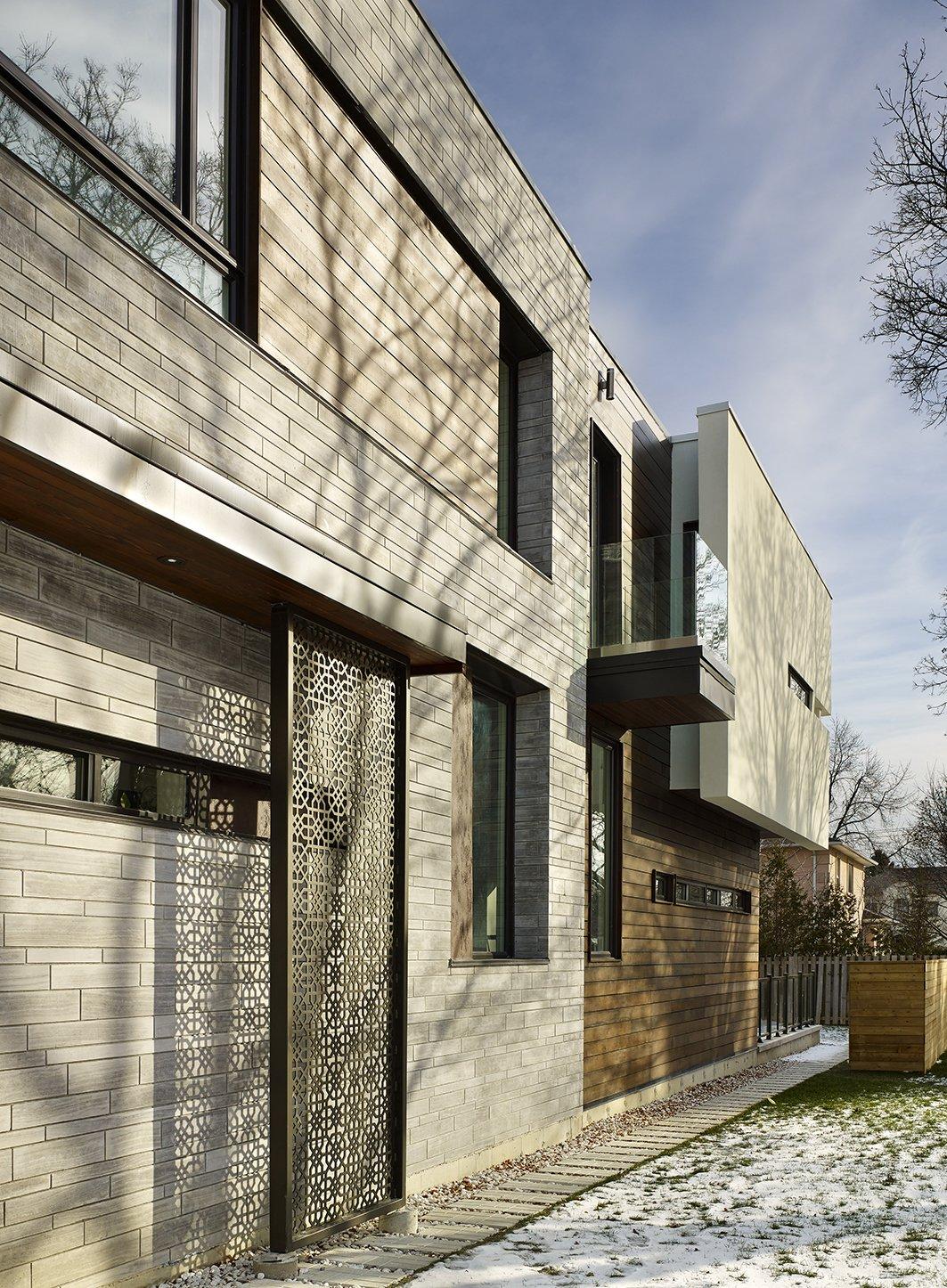 West Elevation   Garden Void House by Alva Roy