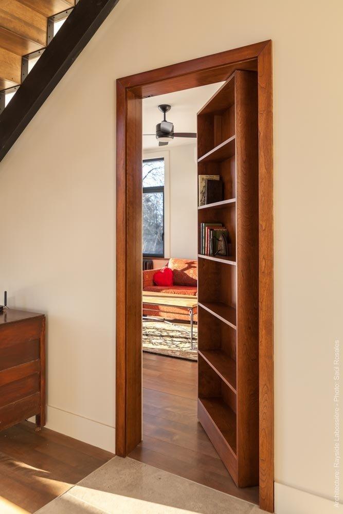 Secret door that leads to the guest room.  La Maison Hatley by Geneviève Audette