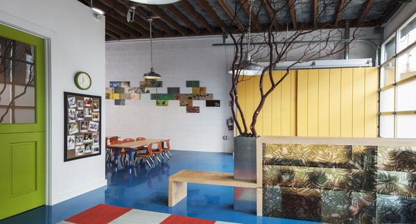 Modern home with toddler age, shelves, bookcase, playroom, neutral gender, and office. Photo 3 of Sweet Peas Preschool