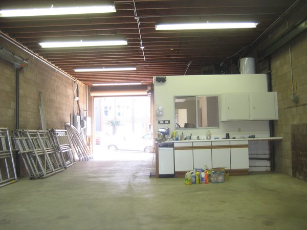Modern home with storage room. The existing garage space before work started.  Photo 4 of Sweet Peas Preschool