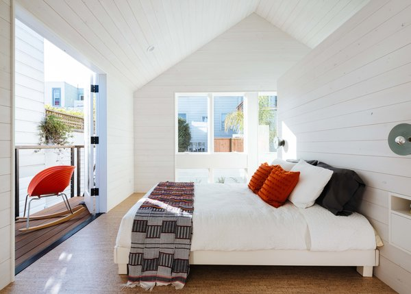 Modern home with bedroom. Photo 2 of Space-Efficient San Francisco Renovation