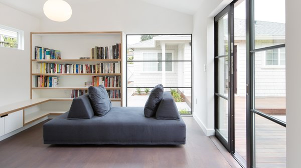 Modern home with living room, medium hardwood floor, and sofa. Photo 3 of A Mill Valley Accessory Building