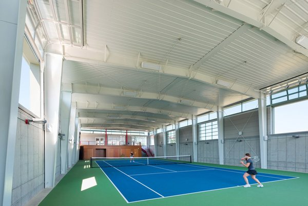 Tennis Court Photo 7 of Covered Tennis Court complex modern home