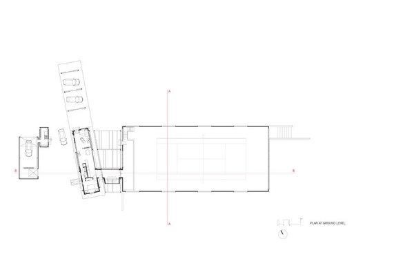 ground floor plan Photo 13 of Covered Tennis Court complex modern home