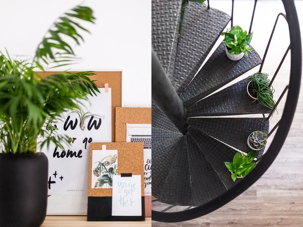 "The queen of the crown is a spiral staircase, installed in the renovation when the two levels were differentiated, in which Gemma wanted to integrate Green,""I love to work surrounded by plants because it relaxes me and makes me happy to take care of them"", she says. Photo 7 of ""La Agencia"" a new brand workspace plenty of design and inspiration modern home"
