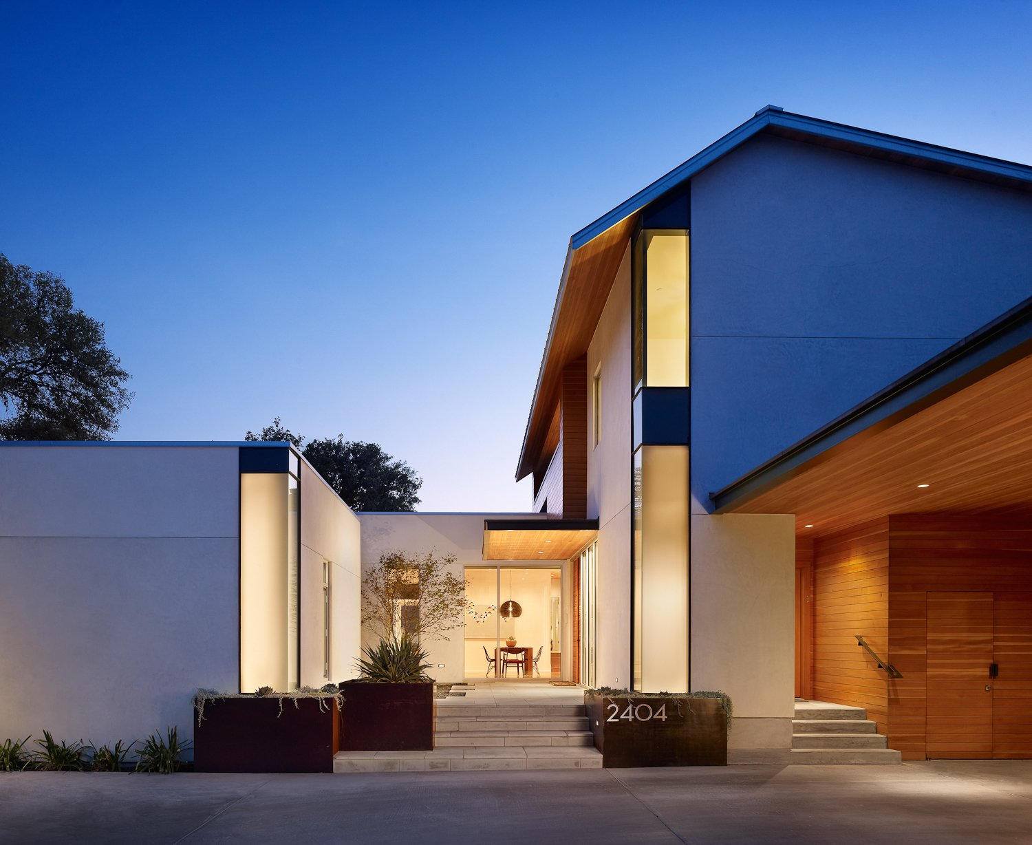 Front elevation  Vance Lane Residence by Jamie Chioco