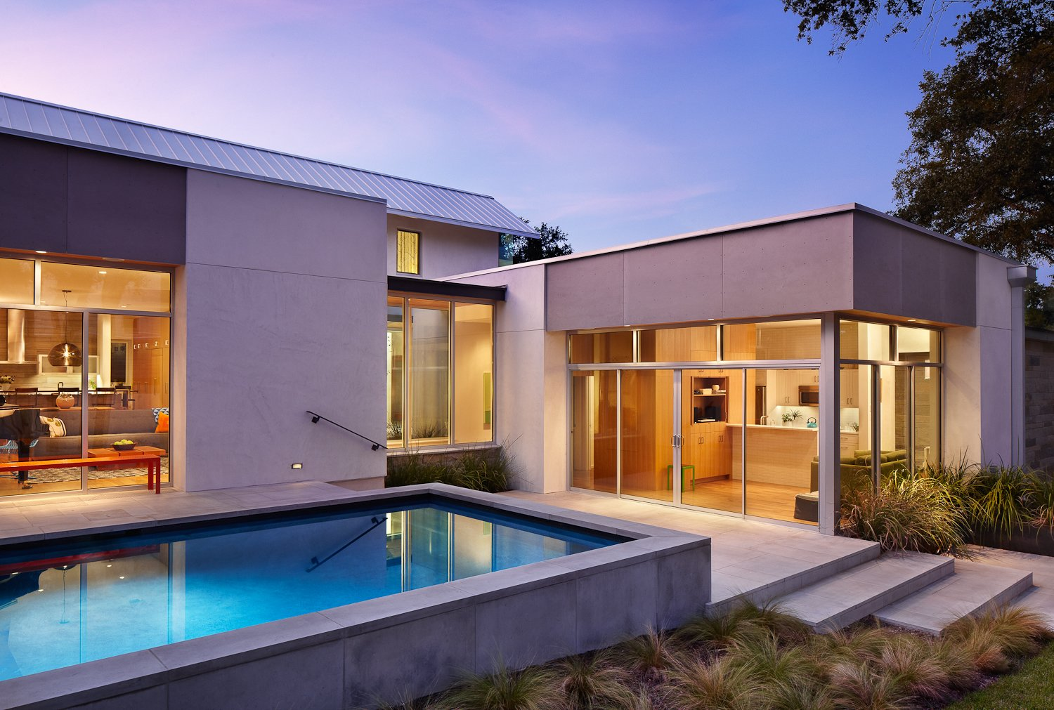 Pool and attached apartment.  Vance Lane Residence by Jamie Chioco