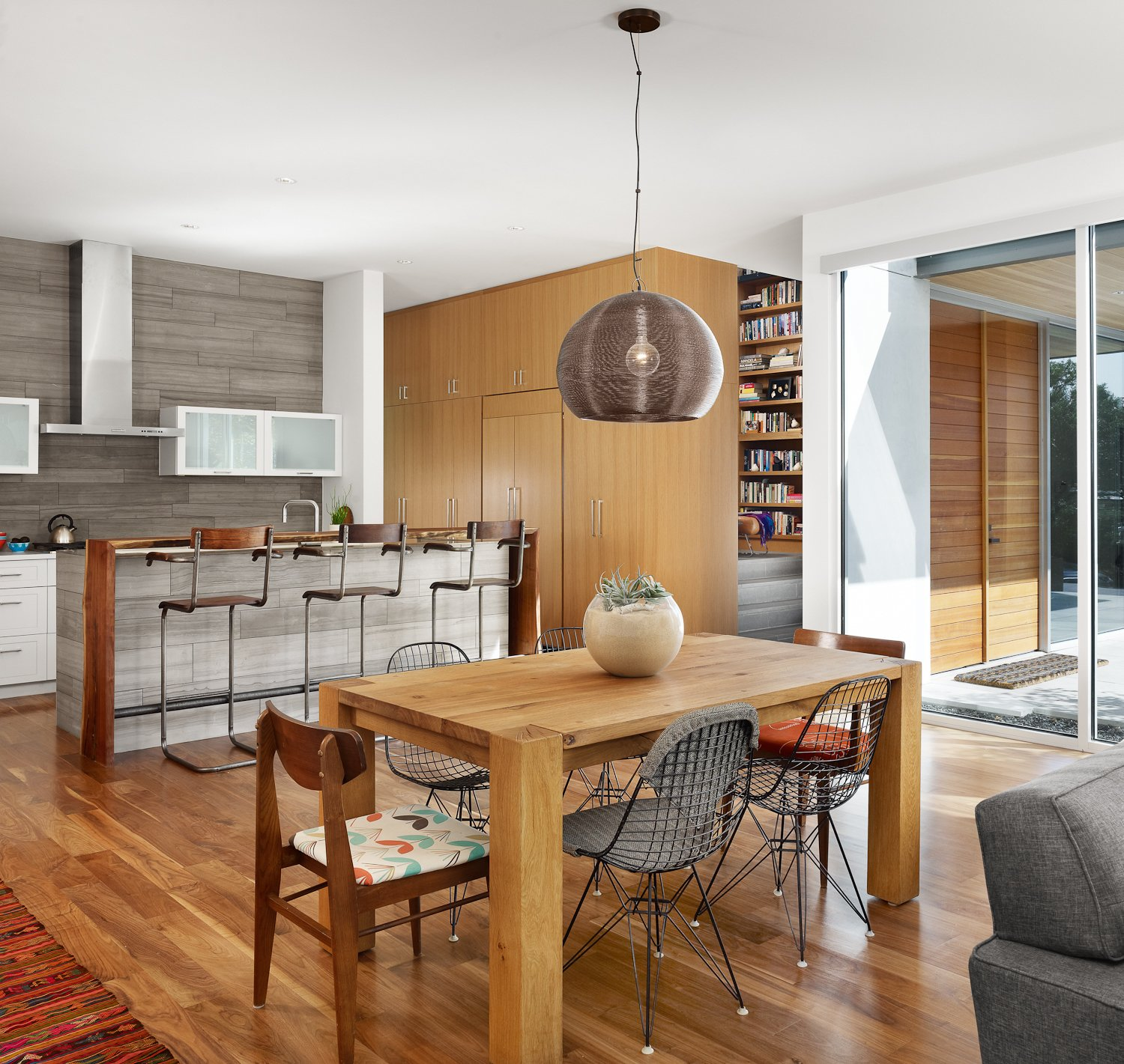 Dining and Kitchen.  Vance Lane Residence by Jamie Chioco