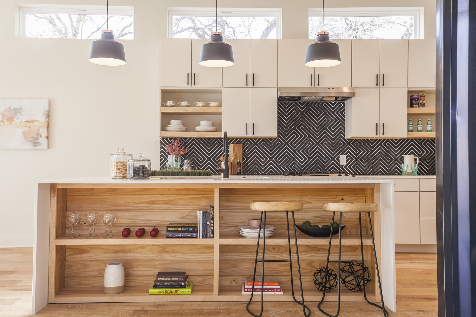 This is the Unit A Kitchen - a fun mix of warm colors and textures. 10/10 would buy :)