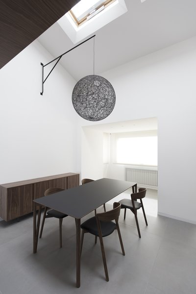 "The lamp is suspended over the table thanks  to this"" iron arm"" designed ad hoc Photo 4 of Home A236 modern home"