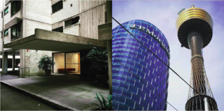 Instagram / Sydney / Australia - Photo 7 of 13 - Left: Marcus's old apartment building designed by Harry Seidler, Right: Sydney buildings including Sydney Tower, 1981, Photography: Marcus Hay for SMH, Inc