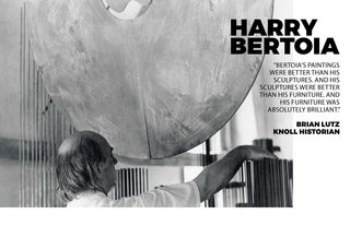 Inspiring Icon / Harry Bertoia - Photo 2 of 7 - Harry in his studio with one of his famous sound sculptures
