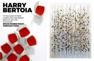 Inspiring Icon / Harry Bertoia - Photo 6 of 7 - Left: Image courtesy of Knoll, Right: Sculpture