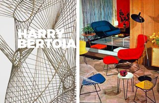 Inspiring Icon / Harry Bertoia - Photo 7 of 7 - Right: Sculpture, Left: On display in Knoll showroom, 1950's