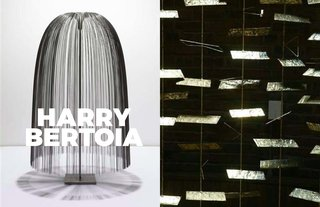 Inspiring Icon / Harry Bertoia - Photo 3 of 7 - Left: Willow sound sculpture, 1970, Right; Detail of sculpture