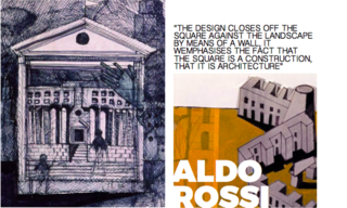 Inspiring Icons/ Aldo Rossi - Photo 4 of 9 - Left and Right: Sketches for Aldo Rossi's projects