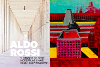 Inspiring Icons/ Aldo Rossi - Photo 7 of 9 - Left: Covered walkway at The San Cataldo Cemetery, Italy, 1971, Right: Aldo Rossi's painting in inspiration for the cemetery