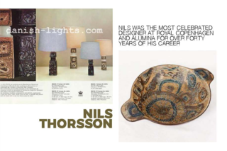 Inspiring Icons / Nils Thorsson - Photo 4 of 9 - Left: From a advert for Baca lamp bases, Right: A bowl from the Baca range