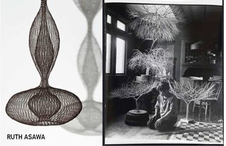 Inspiring Icons / Ruth Asawa - Photo 1 of 5 - Left: Untitled, 1956, Right: Portrait of Ruth Asawa by Imogen Cunningham