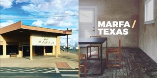 Instagram / Marfa / Texas - Photo 1 of 6 - Left: The junction, City of Marfa building, Right: Judd Foundation Photography: Marcus Hay for SMH, Inc