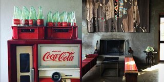 Instagram / Marfa / Texas - Photo 2 of 6 - Left: Coke bottles at Bad Hombres, Right: Capri Bar, Photography: Marcus Hay for SMH, Inc