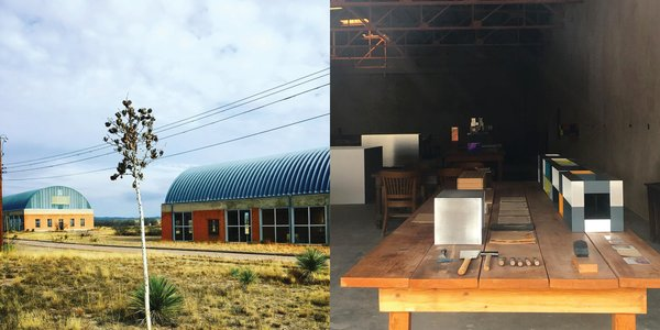 Left: Chinati Foundation, Right: Donald Judd's workshop, Judd Foundation, Photography: Marcus Hay for SMH, Inc