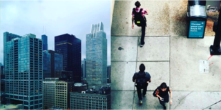 Instagram / Chigago / Illinois - Photo 1 of 6 - Left: The skyscrapers are amassed in Chicago, Right: The 9-5 commuters on the streets