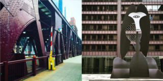 Instagram / Chigago / Illinois - Photo 4 of 6 - Left: The bridges of Chicago city, Right: Mies meets Picasso, what a duo!