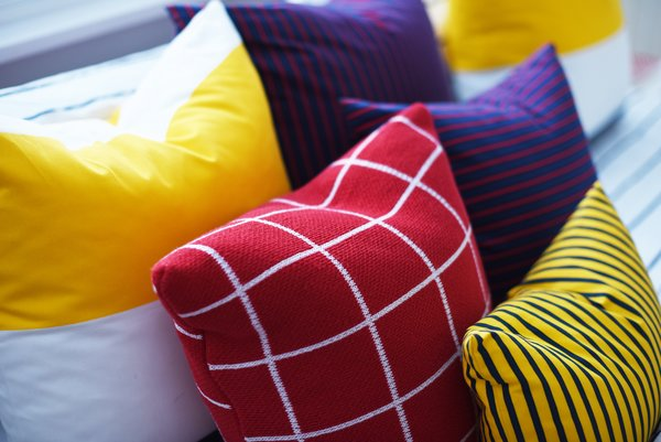 Modern home with bedroom and bed. Guest Bedroom Pillows Detail Photo 13 of Bahamas Style