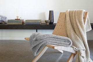 All About Alpaca - Photo 3 of 3 - Our Grey and Natural Alpaca Throws are a great added layer for any space; Source: Nicole LaMotte/Parachute