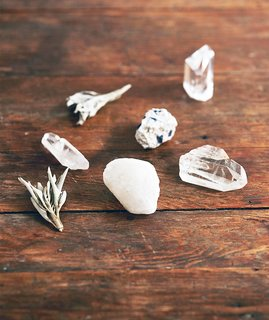 How to Use Crystals in Your Home - Photo 1 of 3 - Crystals can serve many functions in your home space. Source: Asami Zenri/Ashley Neese